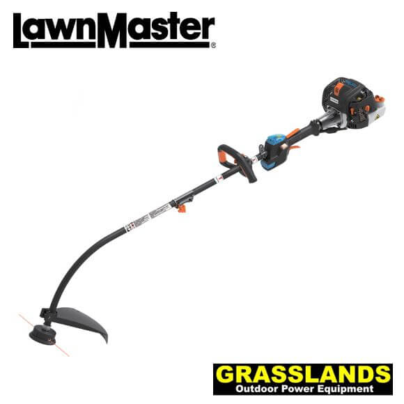 Lawnmaster no pull curved shaft grass trimmer