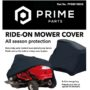 Rider mower cover