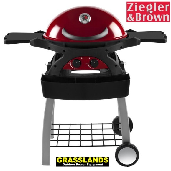 Twin Grill with Trolley in Chilli Red